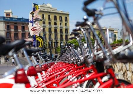 Pop szobor fej Barcelona vastagbél épület Stock fotó © lunamarina