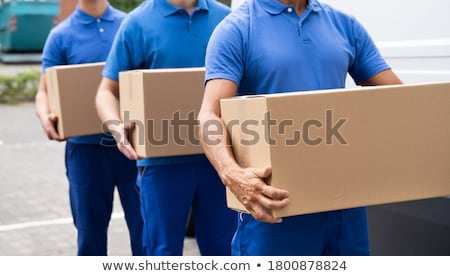 Two mover load van with furniture boxes Stock photo © CandyboxPhoto