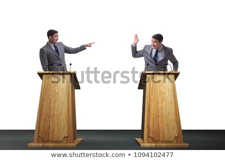 два бизнесменов дебаты служба лице бизнесмен Сток-фото © photography33