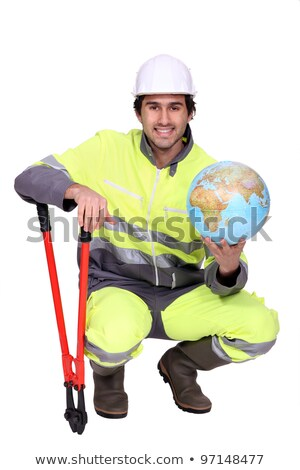Worker with boltcutters and a globe Stock photo © photography33