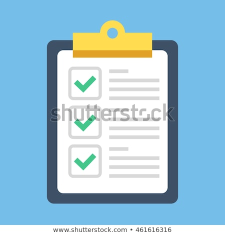 checking list with check sign isolated on white Stock photo © ozaiachin
