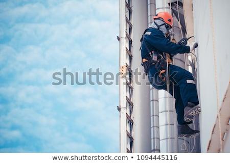 油 · ストレージ · 曇った · 空 · 建設 - ストックフォト © gregory21