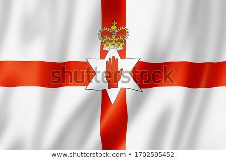 vlag · grunge · officieel · Rood · hand · noordelijk - stockfoto © speedfighter