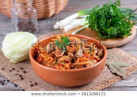Appetizing fresh cabbage. Stock photo © lithian