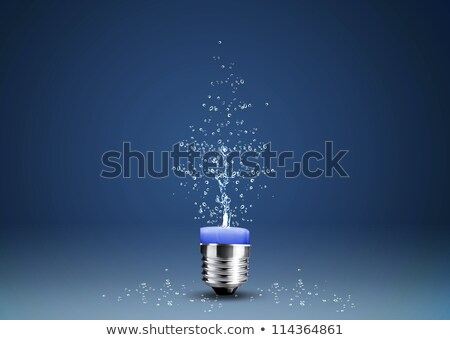 Wax candle into lighting bulb with water splashes Stock photo © designsstock