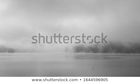 Szmog tó észak Portugália szépség hegyek Stock fotó © zittto