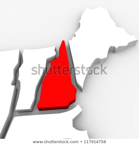New · Hampshire · harita · yalıtılmış · beyaz · ABD · Amerika - stok fotoğraf © iqoncept