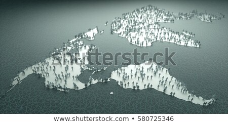 North, South, and Central AMERICA, Global Communication Planet Stock photo © fenton