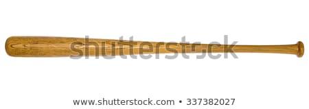 Beysbol sopası yalıtılmış beyaz spor arka plan takım Stok fotoğraf © ozaiachin