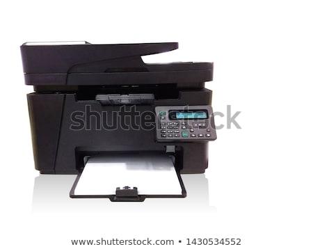 Nyomtató fehér technológia nyomtatott szín tinta Stock fotó © ozaiachin