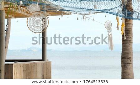 Szabadtér trópusi bár italok kókuszdió vásár Stock fotó © jkraft5