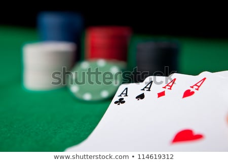 Poker noir sport fond table vert Photo stock © wavebreak_media