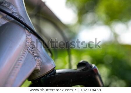 Bicikli keret védelem fehér bicikli Stock fotó © FOKA