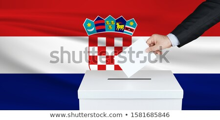 Ballot box Croatia Stock photo © Ustofre9