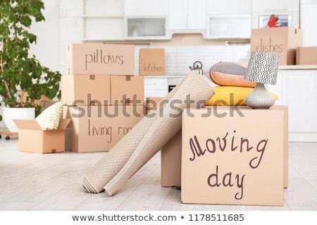Költözés napja doboz csomagolás mozgás egy otthon Stock fotó © Lightsource