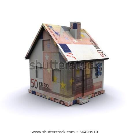 konut · borç · euro · örnek · renkli · 3D - stok fotoğraf © head-off