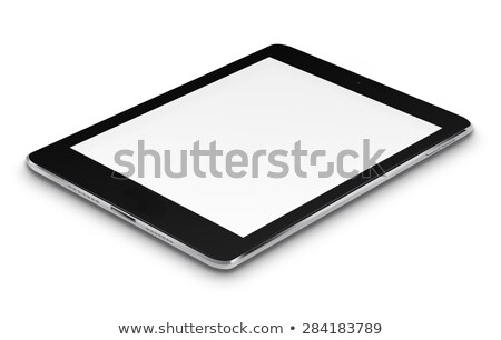 ноутбук · икона · синий · изолированный · белый - Сток-фото © fotoscool