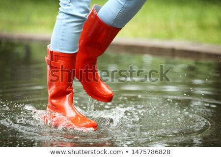 Red rain boots  Stock photo © Grazvydas