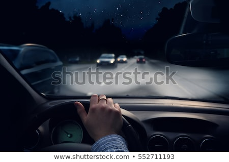 Noite conduzir vetor tarde cidade Foto stock © sonofpromise