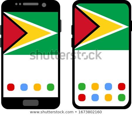 Okostelefon gomb Guyana zászló telefon háló Stock fotó © lirch