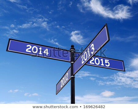 2013 or 2014, opposite signs Stock photo © stevanovicigor