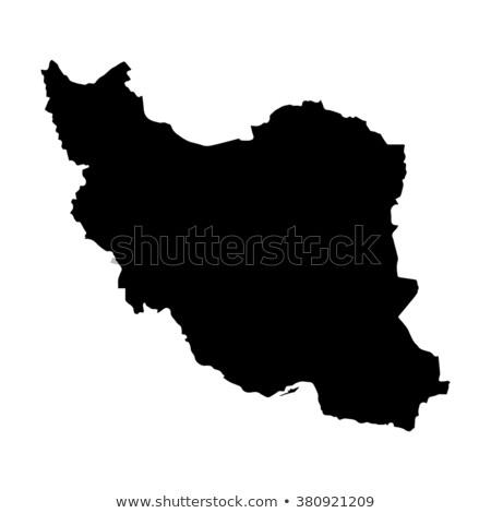 Black Iran map Stock photo © Volina