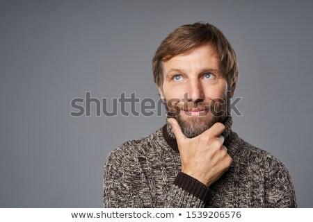 Uomo up casuale pullover gelo trucco Foto d'archivio © HASLOO