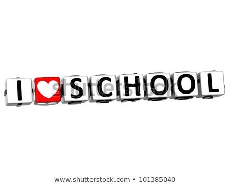 Back to School on Red Puzzle. Stock photo © tashatuvango