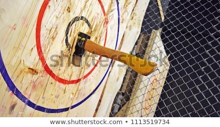 bijl · oude · houten · metaal · vuil · tool - stockfoto © joruba