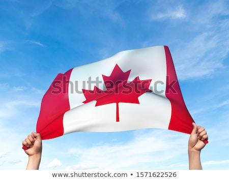 カナダ フラグ 男 バナー カナダの国旗 ストックフォト © stevanovicigor