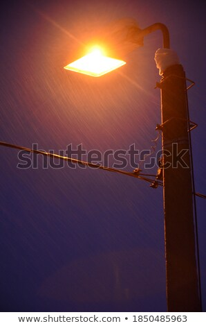 snowdrift in evening ray Stock photo © mycola