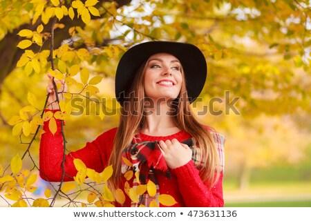 gülen · portre · mutlu · esmer · güzel · zaman - stok fotoğraf © DNF-Style