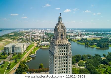 Louisiana iroda kék erő torony Amerika Stock fotó © meinzahn