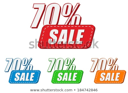 70 percentages sale four colors labels stock photo © marinini