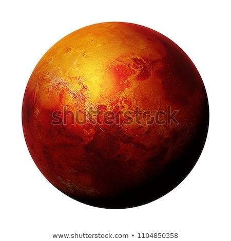 Rood planeet mysterieus geïsoleerd zwarte verf Stockfoto © anbuch