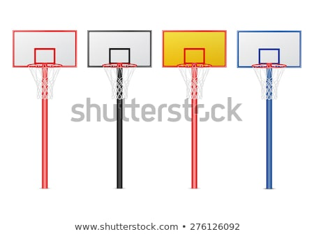 Closeup of a Basketball Hoop and Backboard Stock photo © Frankljr