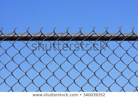 Chainlink Fence Against Blue Sky Stock photo © PeterHermesFurian