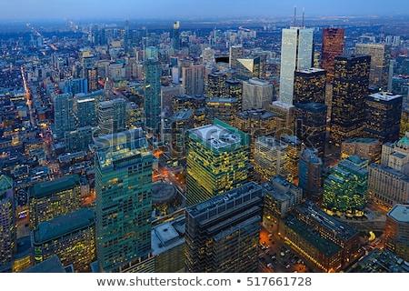Skyline Торонто ночь сумерки свет небе Сток-фото © backyardproductions