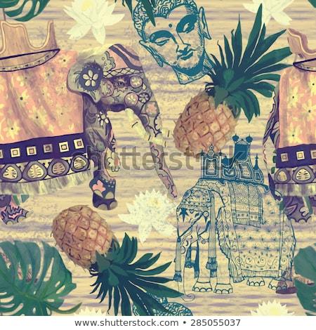 sketch · elefante · bianco · pittura · disegno · african - foto d'archivio © kali