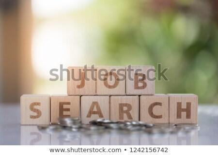 job and search sign, flat design blocks Stock photo © marinini