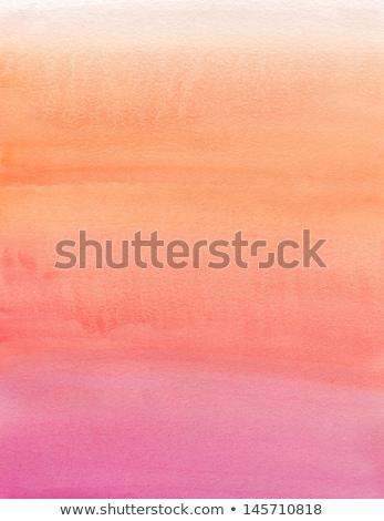 Watercolor painting. Beige, orange, pink, gradient Stock photo © amok