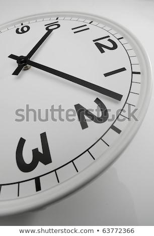 белый часы черный рук восемь Сток-фото © AlessandroZocc
