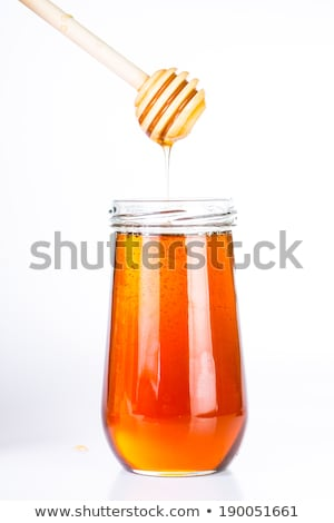 Honey diping and dipper isolated Stock photo © hin255