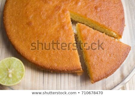 Rebanada delicioso limón torta color Foto stock © raphotos