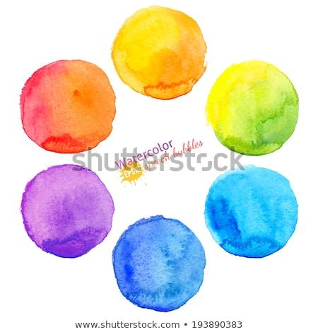 Turuncu suluboya boya vektör daire kâğıt Stok fotoğraf © gladiolus