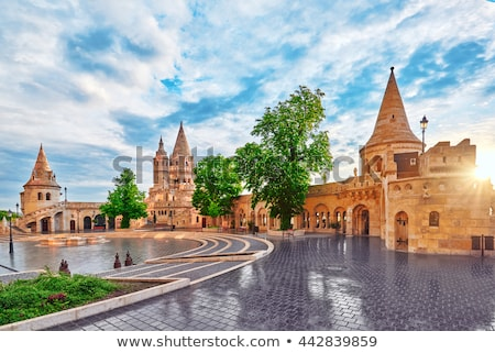fisherman bastion towers budapest hungary stock photo © goce