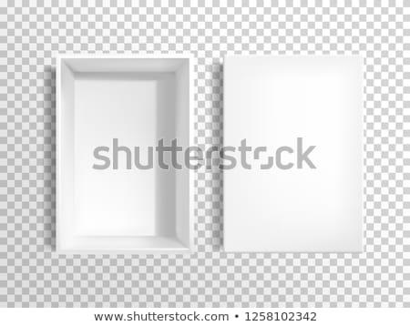 Open rechthoekig vak witte kleur Stockfoto © dezign56