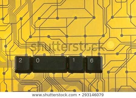 Happy New Year is lined keyboard keys Stock photo © alekleks