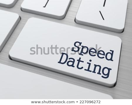 Speed Dating Button on Computer Keyboard. Stock photo © tashatuvango