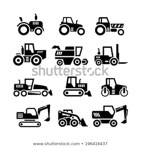landbouwer · machines · persoon · emmer · trekker - stockfoto © konturvid